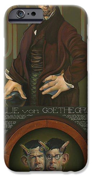 Yak iPhone Cases - Willie von Goethegrupf iPhone Case by Patrick Anthony Pierson