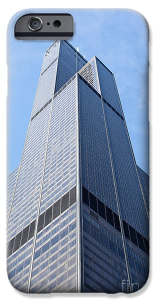 Sears Tower iPhone Cases - Willis-Sears Tower in Chicago iPhone Case by Paul Velgos