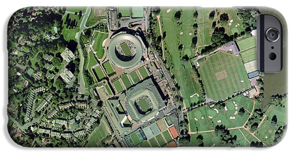 Wimbledon Photographs iPhone Cases - Wimbledon Tennis Complex, Uk iPhone Case by Getmapping Plc