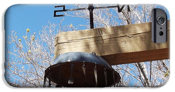 West Fork iPhone Cases - Wind Tines iPhone Case by Cindy Nunn