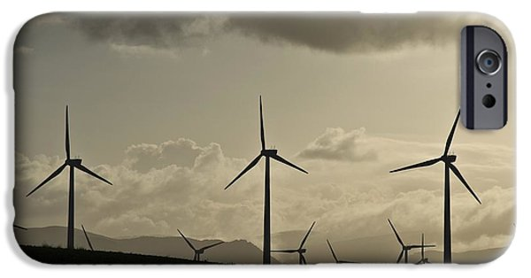 Electrical Equipment iPhone Cases - Wind Turbines, California, Usa iPhone Case by Chris Knapton