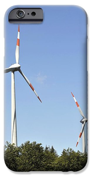 21st Century iPhone Cases - Wind Turbines iPhone Case by Gombert, Sigrid