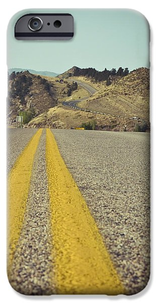 Winding American Highway iPhone Case by Ray Devlin