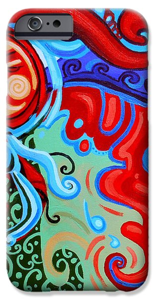 Winding Sun iPhone Case by Genevieve Esson