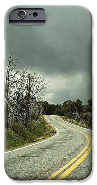 Winding Two Lane Road iPhone Case by Ned Frisk