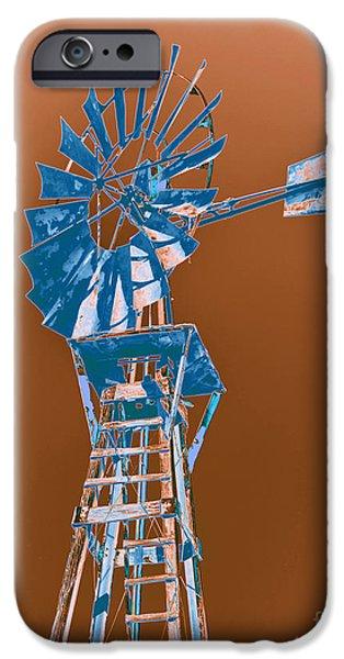 Windmill blue iPhone Case by Rebecca Margraf