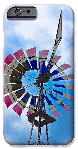 Machinery iPhone Cases - WindMill iPhone Case by Tom Gari Gallery-Three-Photography