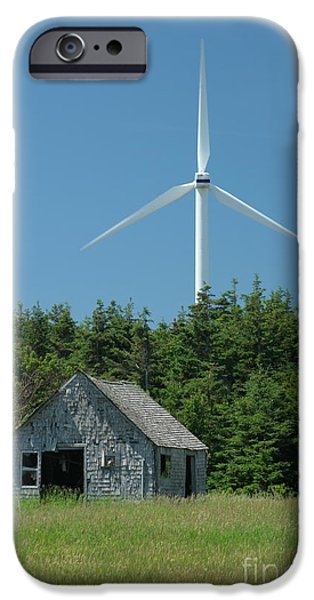 Power iPhone Cases - Windmill In Canada iPhone Case by Ted Kinsman