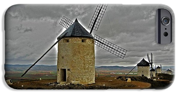Don Quixote iPhone Cases - Windmills - Consuegra iPhone Case by Juergen Weiss
