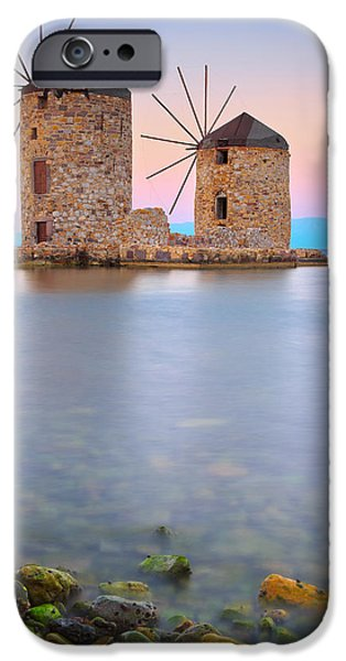 Windmills  iPhone Case by Emmanuel Panagiotakis