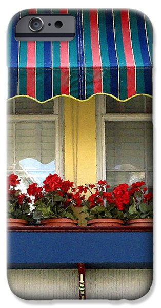 Window Box Geraniums iPhone Case by Colleen Kammerer
