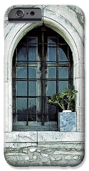 Sheets iPhone Cases - Window Of A Chapel iPhone Case by Joana Kruse