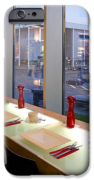 Window Seating in an Upscale Cafe iPhone Case by Jaak Nilson