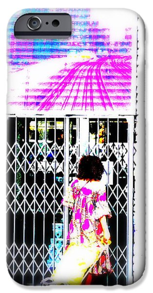 Lyon France iPhone Cases - Window Shopping Lyon Style iPhone Case by Funkpix Photo Hunter