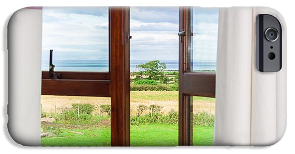 Freedom iPhone Cases - Window View iPhone Case by Semmick Photo