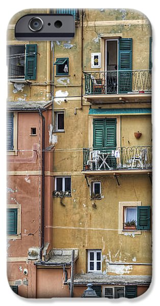 Windows of Camogli iPhone Case by Joana Kruse