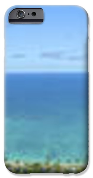 Windward Oahu Panoramic iPhone Case by David Cornwell/First Light Pictures, Inc - Printscapes