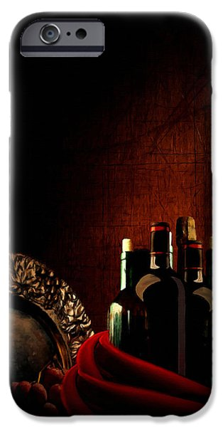 Booze iPhone Cases - Wine Break iPhone Case by Lourry Legarde