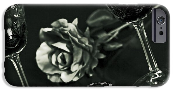 Table Wine iPhone Cases - Wine For Two iPhone Case by Joana Kruse