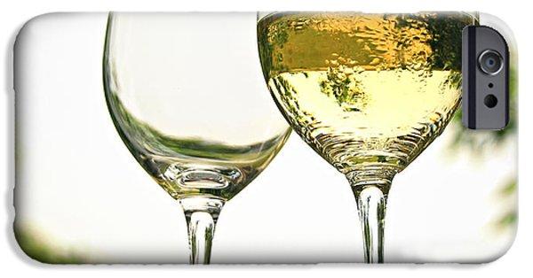 Table Wine iPhone Cases - Wine glasses iPhone Case by Elena Elisseeva