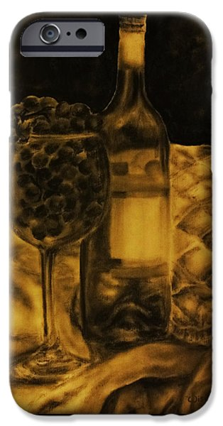 Table Wine Pastels iPhone Cases - Wine Grapes iPhone Case by Tylir Wisdom