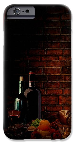 Wine Bottle iPhone Cases - Wine Lifestyle iPhone Case by Lourry Legarde