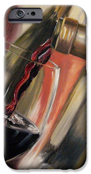 Wine Pour II iPhone Case by Donna Tuten