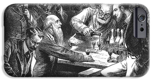 Wine Vault iPhone Cases - Wine Tasting, 1876 iPhone Case by Granger