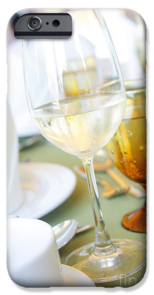 Business iPhone Cases - Wineglass iPhone Case by Atiketta Sangasaeng