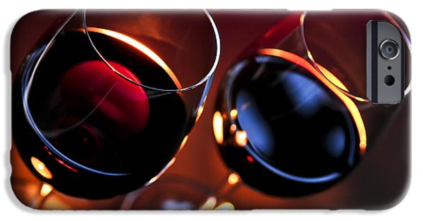 Red Wine iPhone Cases - Wineglasses iPhone Case by Elena Elisseeva