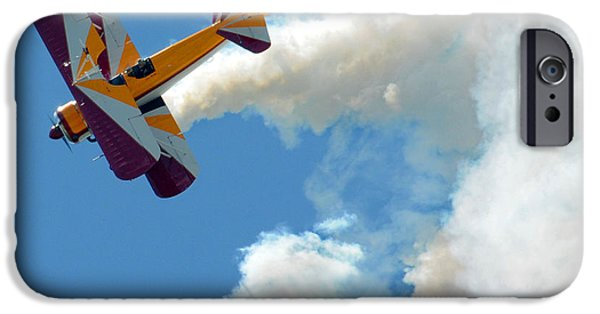 Barnstormer Photographs iPhone Cases - Wing Walker 03 iPhone Case by Jeff Stallard