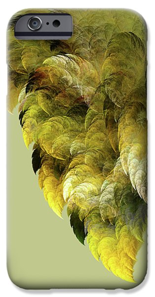 Green Surreal Geometric iPhone Cases - Winged iPhone Case by Bonnie Bruno