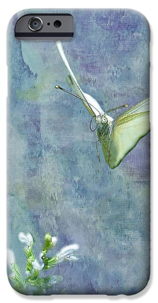 Cabbage White Butterfly iPhone Cases - Winging It iPhone Case by Betty LaRue