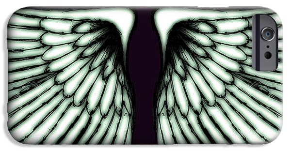 Surrealism Digital Art iPhone Cases - Wings iPhone Case by Sumit Mehndiratta
