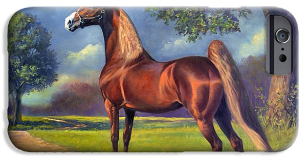 American Saddlebred iPhone Cases - Winsdown Celebration iPhone Case by Jeanne Newton Schoborg