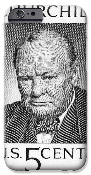 Us Postal Service iPhone Cases - Winston Churchill iPhone Case by Granger