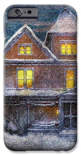 Winter - Clinton NJ - A Victorian Christmas  iPhone Case by Mike Savad