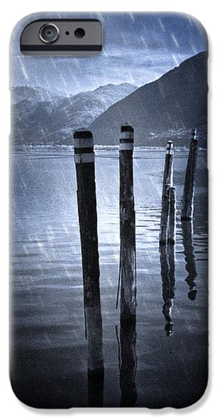 Piles iPhone Cases - Winter At The Lake iPhone Case by Joana Kruse