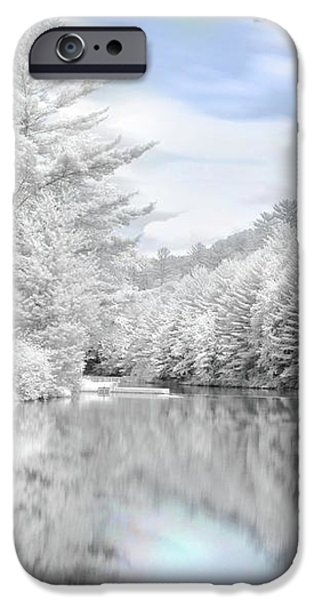 Winter at the Reservoir iPhone Case by Lori Deiter