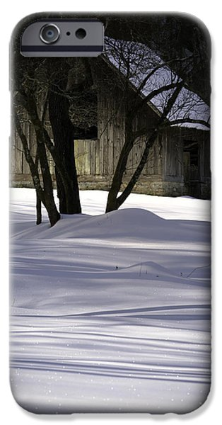 Winter Barn iPhone Case by Rob Travis