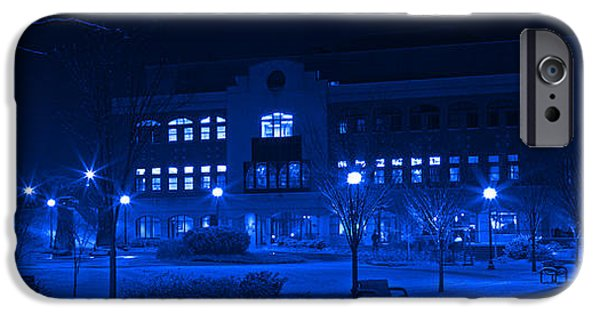 Winter Storm iPhone Cases - Winter Blues - Love In The Library iPhone Case by John Stephens