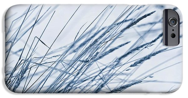 Snowy Digital iPhone Cases - Winter Breeze iPhone Case by Priska Wettstein