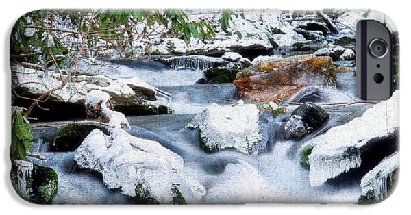 Snowy Stream iPhone Cases - WInter iPhone Case by Darren Fisher