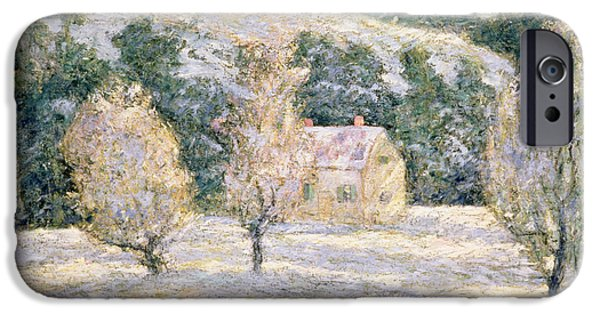 Snow Landscape iPhone Cases - Winter iPhone Case by Ernest Lawson
