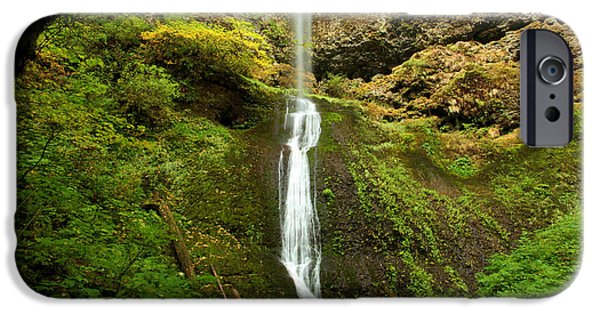 State Parks In Oregon iPhone Cases - Winter Falls iPhone Case by Adam Jewell