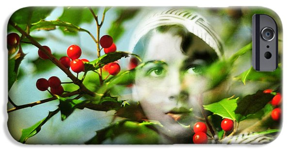 Innocence iPhone Cases - Winter Fancies iPhone Case by Rebecca Sherman