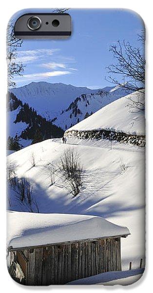 Winter landscape iPhone Case by Matthias Hauser