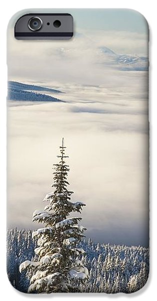 Winter Landscape With Clouds And iPhone Case by Craig Tuttle