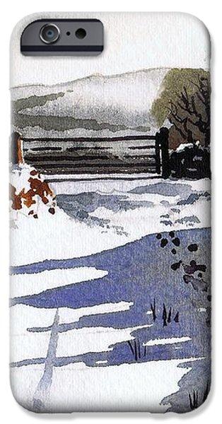 Winter Lane sowood iPhone Case by Paul Dene Marlor