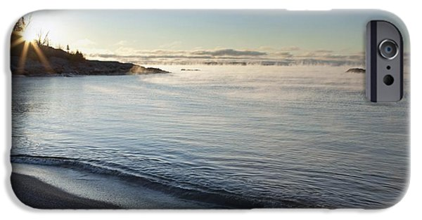Design Pics - iPhone Cases - Winter Mist On Lake Superior At Sunrise iPhone Case by Susan Dykstra
